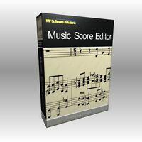 Music Score Editor Writer - Theory Notation Software Computer Program