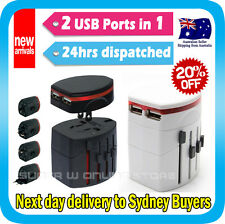 Travel Adapter Universal AC Converter Socket Plug USB Charger for iPhone 5s iPad