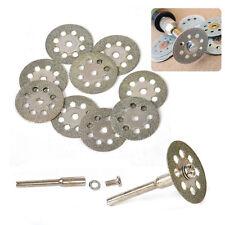 12Pcs Circular Saw Blades Cut Wheel Discs + Mandrel Dremel Cutoff Rotary Tools
