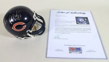 Walter Payton Signed Chicago Bears Mini Helmet * PSA DNA Authenticated NFL COA