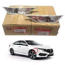 Genuine Honda JDM White Clear Side Markers Turn Light Lamp Pair 2016-2018 Civic