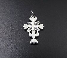 """Retired James Avery Sterling Silver Tulip Cross Descending Dove Charm 1"""" PS1266A"""