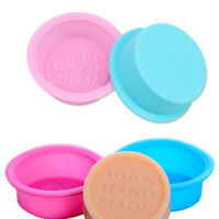 Round Oval DIY Handmade Soap Moulds Food-Grade Silicone Baking Mould Supplies