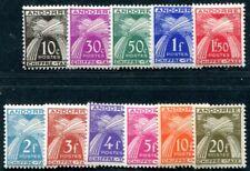 FRANZÖSISCH ANDORRA PORTO 1943 21-31 ** POSTFRISCH SATZ 38€(49136