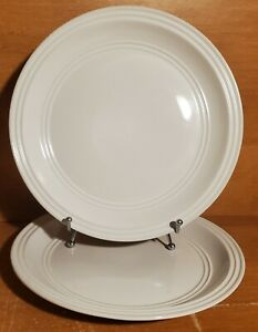 """Mainstays ARCTIC WHITE Dinner plate set of 2, 10 1/2"""", Stoneware, Excellent"""