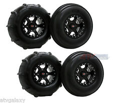 "GMZ 30"" Sand Stripper XL Front Rear Paddle Tires Casino Beadlock Wheels RZR1000"