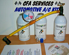 R12 COMPATIBLE 3 CAN A/C REFRIGERANT RECHARGE KIT 1994 & OLDER CARS 12a GAS KIT