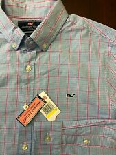 NEW Vineyard Vines Cotton Gingham Sport Button Front Shirt Size Medium