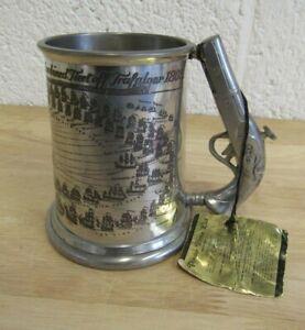 Pinder Bros LORD NELSON - Trafalgar Pistol Handled Pewter Tankard (Hospiscare)