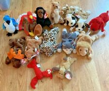 Lot of 12: Ty Beanie Babies Assorted Beanbag Plush Animals Tags