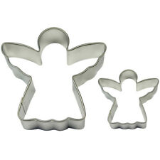 Pme Cake Baking Metal Angel Cookie Shape Cutter Pack Of 2 Small & Large