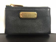 NWT AUTHENTIC Marc By Marc Jacobs Black Leather Coin Card Wallet & Key Holder