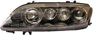 Hella, 1EL 354 420-101, Headlight, Right, Right-Hand, Black, Mazda