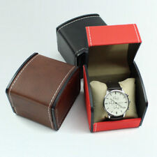 Pack 20 Faux Leather Wrist Watch Display Box Handmade Sewing Watch Presents Box