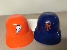 2 New York Mets Orange & Blue Mini Baseball Helmet Ice Cream Bowl From CitiField