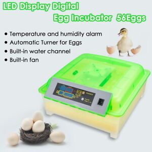 56Egg Incubator Digital Clear Hatcher with Auto Turner Chicken Poultry Duck Bird