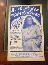 Partition Au chant des mandolines Paulette Vetheuil
