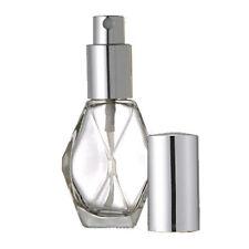 12- 1 Oz Glass Perfume Spray Bottle Refillable Atomizer 30ml Silver Party Favor