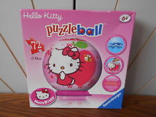 HELLO KITTY 72 piece junior puzzleball jigsaw puzzle RAVENSBURGER 3D ball