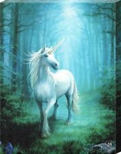 Fantastic Forest Unicorn – A unicorn in Glade Canvas Picture Frame Anne Stokes