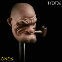 1/6 Scale Popeye Sailor Head Sculpt Carving TYDT06 F 12'' PH Muscle Body Toy