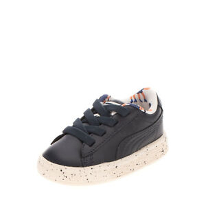 PUMA x TINY COTTONS SPECKLEJR Kids Leather Sneakers Size 19 UK 3 US 4 Patches