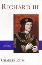 Richard III (Yale Inglés Monarcas SERIE) by CHARLES ROSS Libro De Bolsillo 97