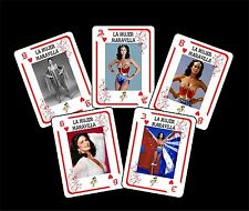 WONDER WOMAN LYNDA CARTER 1 BOX WITH 54 COLLECTIBLE POKER CARDS ARGENTINA NIB