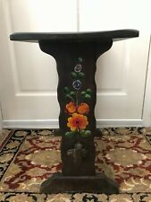 Unique Rancho Monterey Style Antique Mission Side Table - Hand Painted (Rare)