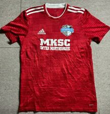 Adidas Mens T Shirt Size Small Red Inter Northshore Soccer Adult climalite S