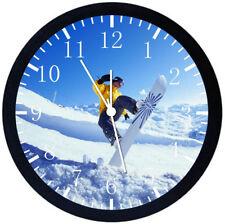 Skier Design Glass Clock Bedside or Desk Top Skiing Gift Boxed