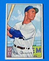 1952 BOWMAN CAL ABRAHMS BASEBALL CARD #86 ~ EX/MT