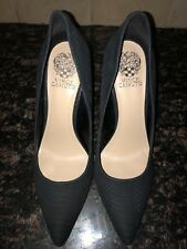 """NEW Womens Vince Camuto """"Kain"""" Embossed Black Pointed Toe Pumps Size 10M"""