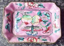 Antique Chinese Cloisonne Champleve Enamel Dish c1900 (c)