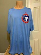 MLB Majestic Baseball Chicago Cubs  Tee shirt 2XL Light blue NWT