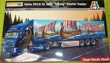 "KIT - ITALERI VOLVO FH16 XL WITH ""VIKING"" REEFER TRAILER KIT - 1/25"
