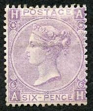 No Gum Great Britain Victoria Surface-Printed Stamps