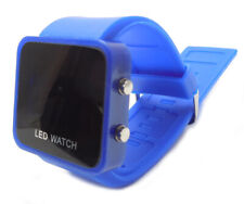 LED RETRO FASHION DIGITAL MENS/LADIES/GIRLS/BOYS JELLY WRIST WATCH Dark Blue