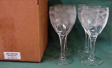 Fry Crystal WEDDING ROSE FRY3 Water Goblet Stems SET /4 FILIGREE More Item Avail