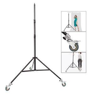 Studio Light Stand 3m Heavy Duty Adjustable Professional Photo Tripod Spring UK
