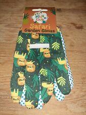 Childs Safari Lions Gardening Gloves