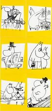 Moomin Troll Finland Mint Drawing Official Post Cards 6 piece 2009