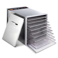 NEW Commercial Stainless Steel Large 10 Tray Beef Jerky Food Dehydrator Dryer
