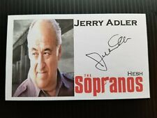 """The Sopranos"" Jerry Adler ""Hesh"" Autographed 3X5 Index Card"
