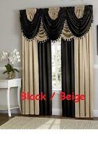 Luxury Hyatt WINDOW CURTAIN TREATMENT, Panel or fringe valance SOLD SEPARATE