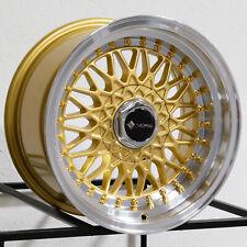 "4-New 15"" Vors VR3 Wheels 15x8 4x100/4x114.3 20 Gold Rims"
