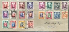 SARAWAK 1949 BMA Overprint cover with Complete set cancelled VICTORIA Labuan