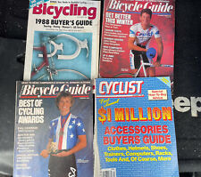 Lot Of 4 Bicycle Guide Magazines, Vintage 80s