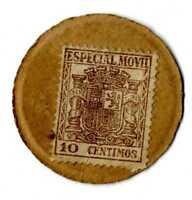 Sello Moneda España Especial Movil 10 céntimos