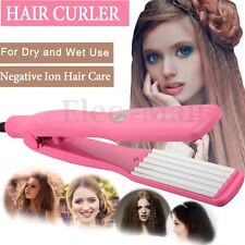 Professional Hair Curling Crimper Iron Curler Anion Curl Wave Machine Salon Wand